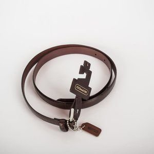 NWT Coach brown leather belt - L
